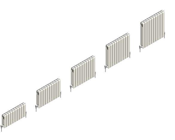 bimstore 3D range image of the Faral Alliance Aluminium Radiator from AEL Heating.