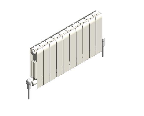 bimstore 3D image of the Faral Alliance Aluminium Radiator from AEL Heating.