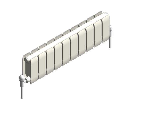 bimstore 3D image of the Faral Low Sill Aluminium Radiator from AEL Heating.