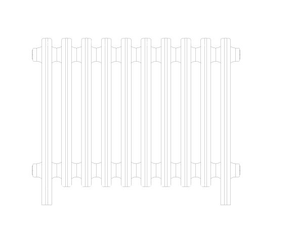 bimstore front image of the Victoriana Cast Iron Radiator from AEL Heating.