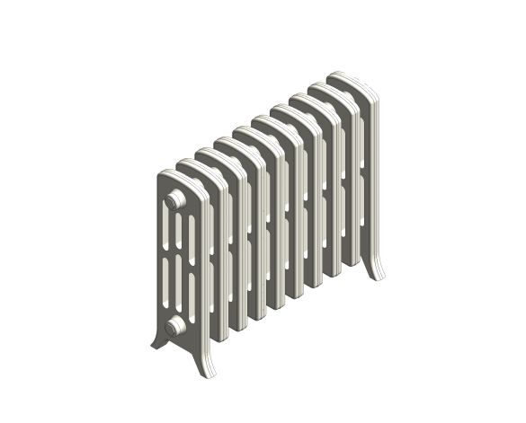 bimstore 3D image of the Victoriana Cast Iron Radiator RV4 Floor from AEL Heating.