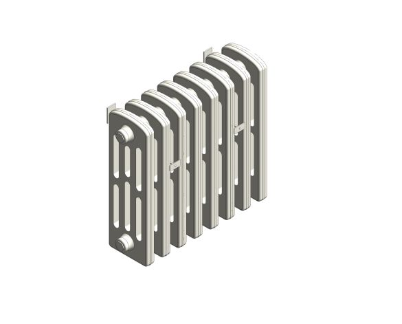 bimstore 3D image of the Victoriana Cast Iron Radiator RV4 Wall from AEL Heating.