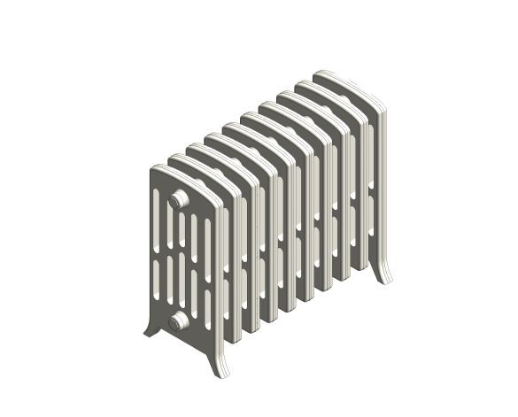 bimstore 3D image of the Victoriana Cast Iron Radiator RV6 Floor from AEL Heating.