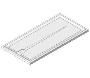 Product: Braddan Shower Tray 1420mm x 700mm