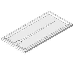 Product: Braddan Shower Tray 1420mm x 700mm