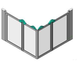 Product: Standard Shower Screen Option E