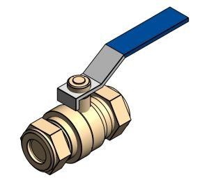 Product: Intaball Lever Ball Valve - Blue Handle