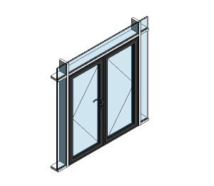 Product: AluK 58BD Residential Double Door (Curtain Wall Insert)