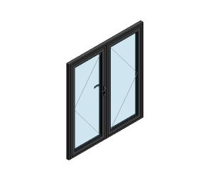 Product: AluK 58BD Residential Double Door (Wall Insert)