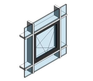 Product: AluK 58BW Residential Open In Window (Curtain Wall Insert)
