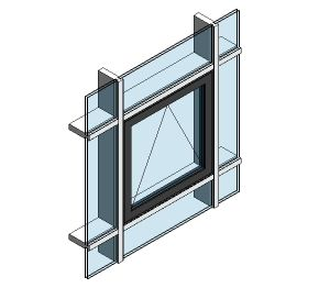 Product: AluK 58BW Residential Open Out WIndow (Curtain Wall Insert)