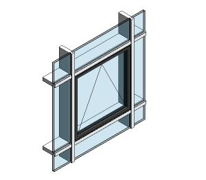 Product: AluK 58BW ST Open Out Window (Curtain Wall Insert)