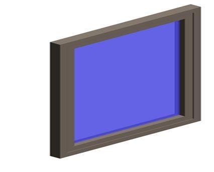 Image of AluK 72BW HI Casement Window Internally Glazed