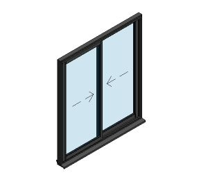 Product: AluK BSC70 Sliding Door - 2 Panel Wall Insert