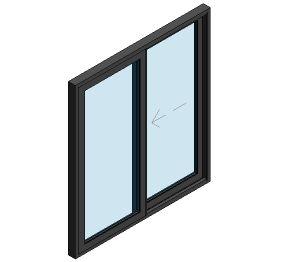 Product: AluK BSC94 Sliding Door - 2 Panel Wall Insert