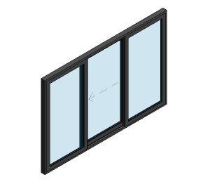 Product: AluK BSC94 Sliding Door - 3 Panel Wall Insert