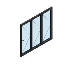 Product: AluK BSF70 Folding Door System (3 Pane)
