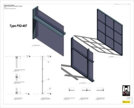 Image of AluK SL52 P 52_407 Curtain Wall System