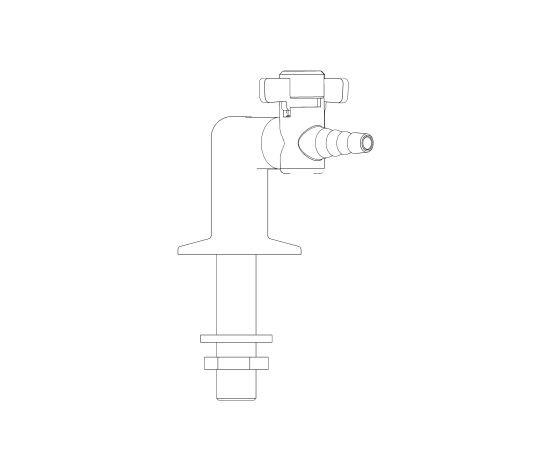 Image of 2 Way Bench Mounted Gas Tap Drop Lever - 900033NG