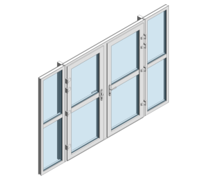 Product: TS66 Rebate - Double Door With Side Window Midrail
