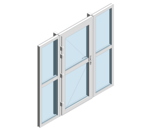 Product: TS66 Rebate - Single Door With Side Window Midrail