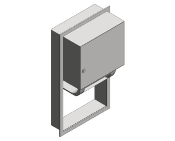 Revit, Bim, Store, Components, Generic, Model, Object, 13, American, Specialties, Inc., Automatic, Roll, Paper, Towel, Dispenser, 045224A