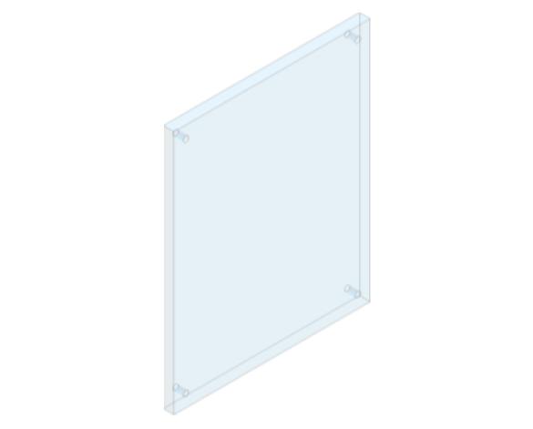 Revit, Bim, Store, Components, Generic, Model, Object, 13, American, Specialties, Inc., Frameless, Stainless, Steel, Mirror, 8026