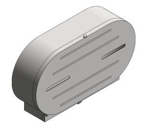 Product: Low Profile Surface Mounted Jumbo-Roll Toilet Tissue Dispenser (0039)