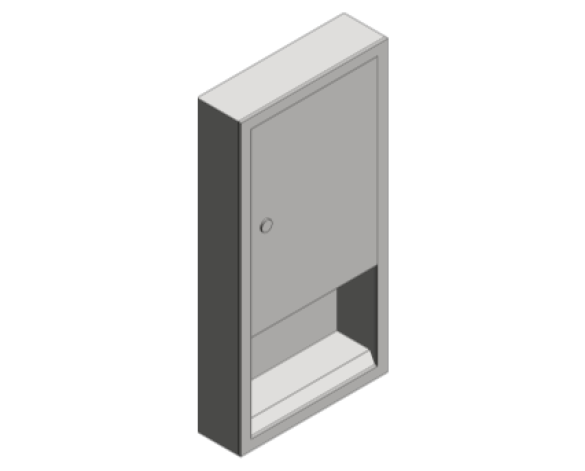 Revit, Bim, Store, Components, Generic, Model, Object, 13, American, Specialties, Inc., Paper, Towel, Dispenser, 0452