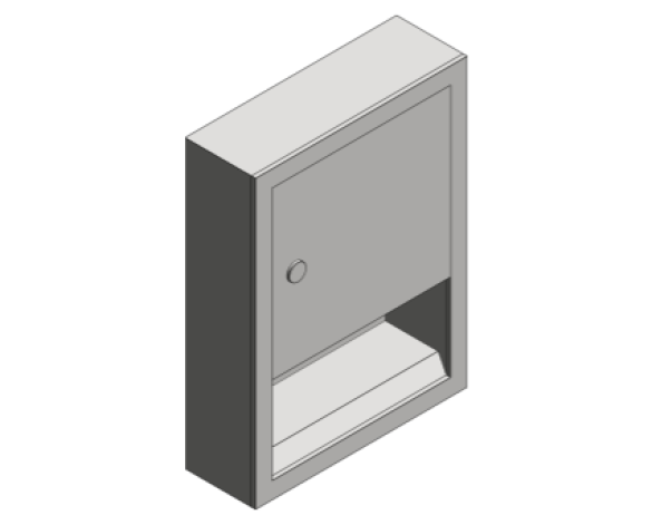 Revit, Bim, Store, Components, Generic, Model, Object, 13, American, Specialties, Inc., Paper, Towel, Dispenser, 0457-9