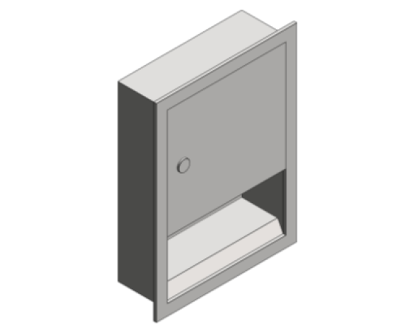 Revit, Bim, Store, Components, Generic, Model, Object, 13, American, Specialties, Inc., Paper, Towel, Dispenser, 0457