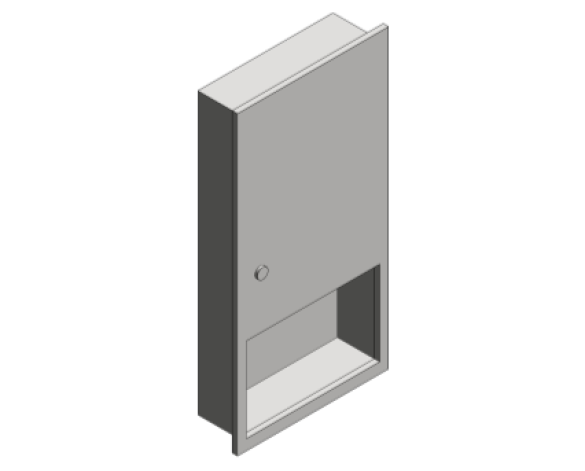 Revit, Bim, Store, Components, Generic, Model, Object, 13, American, Specialties, Inc., Paper, Towel, Dispenser, 6452-9