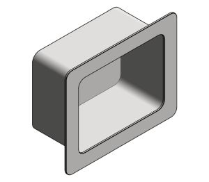 Product: Rear Mounting Recessed Soap Dish (140)