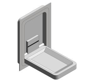 Product: Recess Mounted Stainless Steel Vertical Baby Changing Station (9017)
