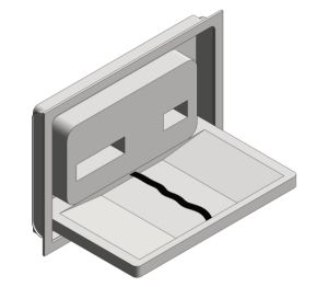Product: Recessed Stainless Steel Baby Changing Station (9013)