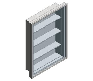 Product: Recessed Stainless Steel Medical Cabinet (0952)