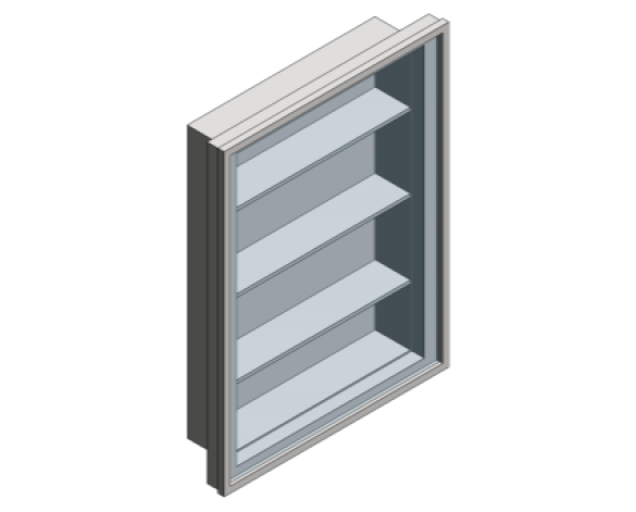 Revit, Bim, Store, Components, Generic, Model, Object, 13, American, Specialties, Inc., Recessed, Stainless, Steel, Medical, Cabinet, 0952