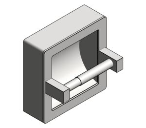 Product: Recessed Toilet Tissue Holder (7402-SM)