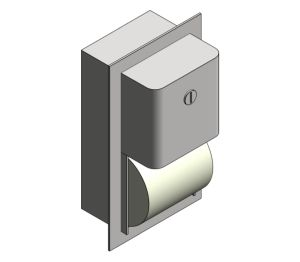 Product: Semi-Recessed Mounted Twin Hide-A-Roll Toilet Tissue Dispenser (20031)