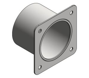 Product: Square Recessed Toilet Tissue Holder - Front Mounting (110-13)