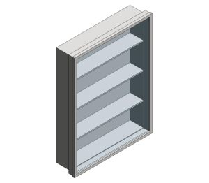 Product: Surface Mounted Stainless Steel Medical Cabinet (0953)