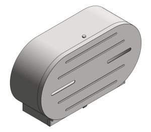 "Product: Surface Mounted Twin 9"" Jumbo Roll Toilet Tissue Dispenser (0040)"