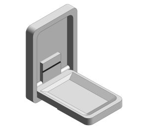 Product: Surface Mounted Vertical Baby Changing Station (9015)