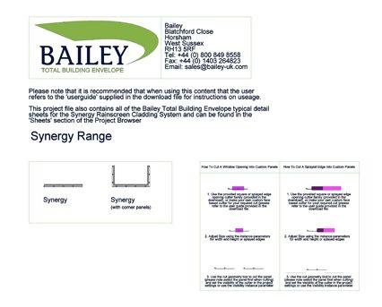 Revit, BIM, Download, Free, Components, Bailey, total,building,envelope,rainscreen,cladding,synergy,tradiaitonal,hook,on,aluminium,stainless,steel,corten,copper,brass,ACM