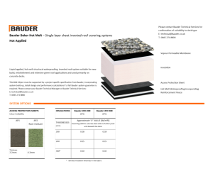 Product: Bakor Inverted Roof (Hot Applied)