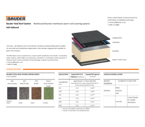 Product: BTRS Warm Roof (Self Adhered)