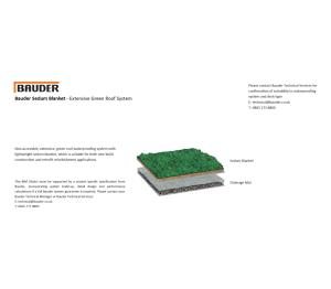 Product: Extensive Green Roof System - Sedum Blanket