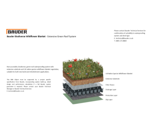 Product: Extensive Green Roof System - Wildflower Blanket