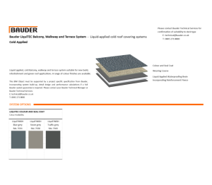 Product: LiquiBALKON Cold Roof (Cold Applied)