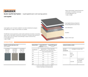Product: LiquiDEK Warm Roof (Cold Applied)